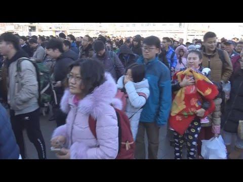 中国 30億人大移動始まる 春節の帰省ラッシュ