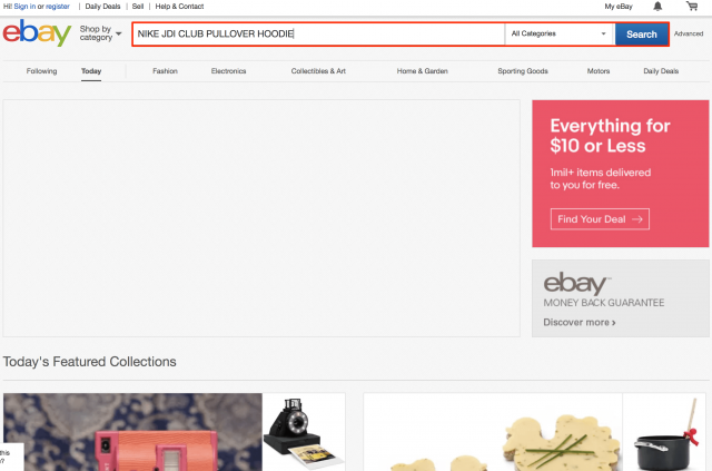 ebayで検索